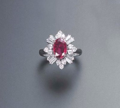 THREE RUBY AND DIAMOND RINGS