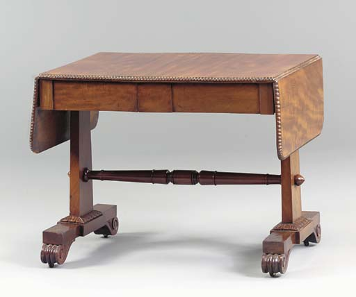A WILLIAM IV MAHOGANY SOFA TABLE,