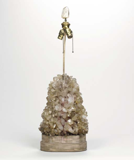 A SOLID ROCK CRYSTAL LAMP,