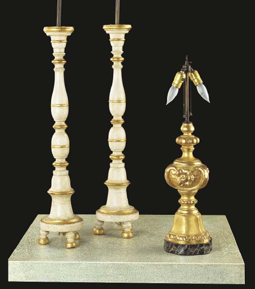 A PAIR OF BAROQUE STYLE WHITE-
