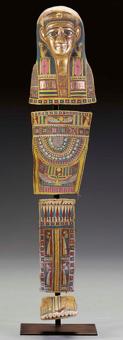 AN EGYPTIAN CARTONNAGE MUMMY S