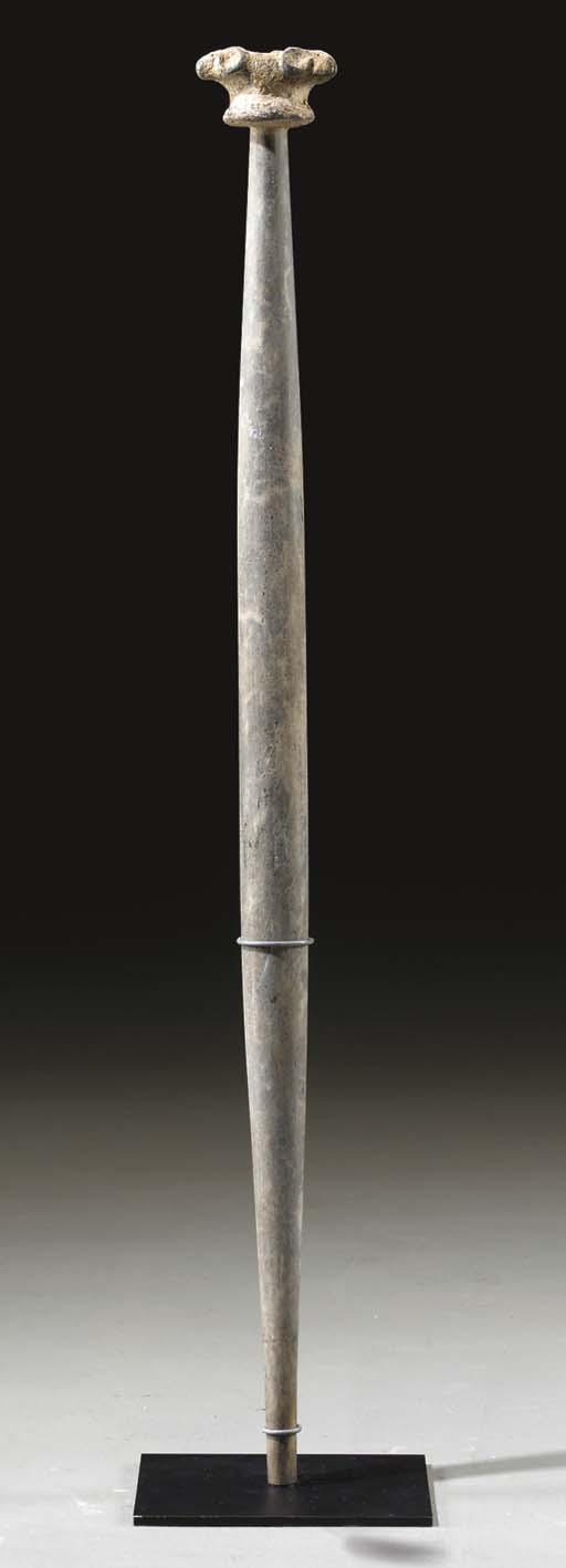 A BACTRIAN STONE AND LEAD MACE