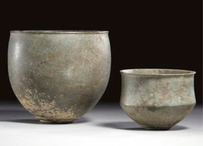 TWO BACTRIAN SCHIST BOWLS