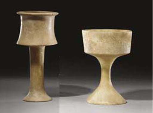 TWO BACTRIAN STONE CHALICES