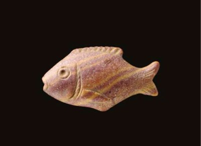 A PHOENICIAN STONE FISH AMULET