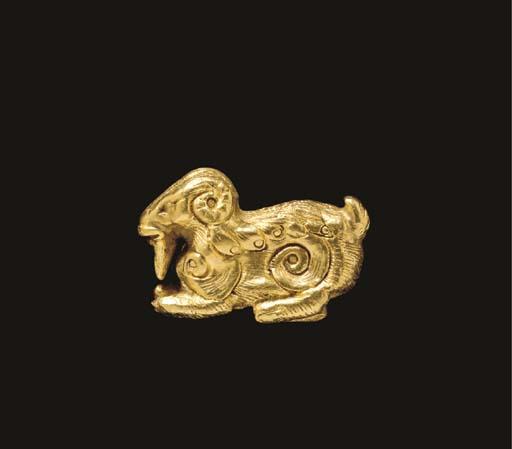 AN ACHAEMENID GOLD BEARDED RAM