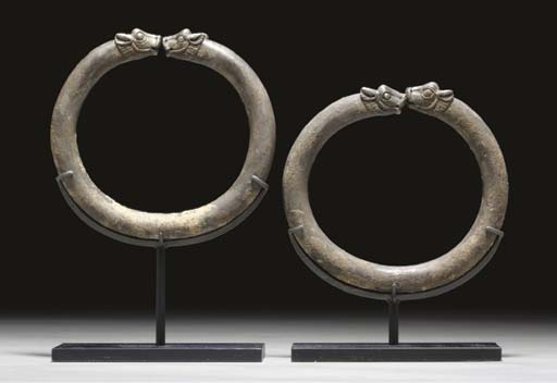A PAIR OF MASSIVE GREEK SILVER