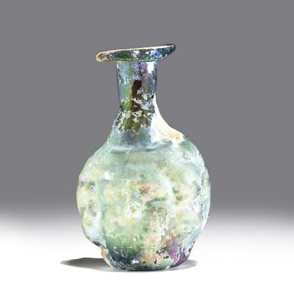 A ROMAN GLASS DOUBLE HEAD-SHAP