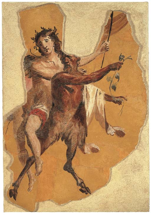 A ROMAN WALL-PAINTING FRAGMENT