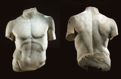 A ROMAN MARBLE TORSO OF THE DO