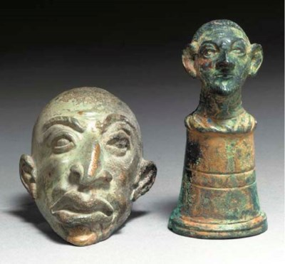 THREE ROMAN BRONZE OBJECTS