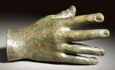 A ROMAN BRONZE RIGHT HAND