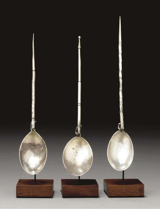 THREE ROMAN SILVER SPOONS