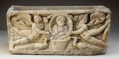 A ROMAN MARBLE CHILD'S SARCOPH