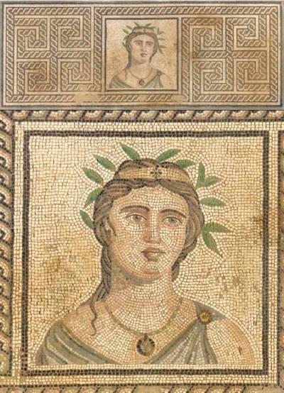 A ROMAN MOSAIC PANEL