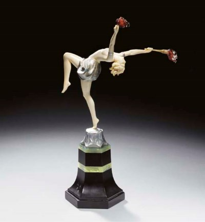 'TORCH DANCER', A COLD-PAINTED