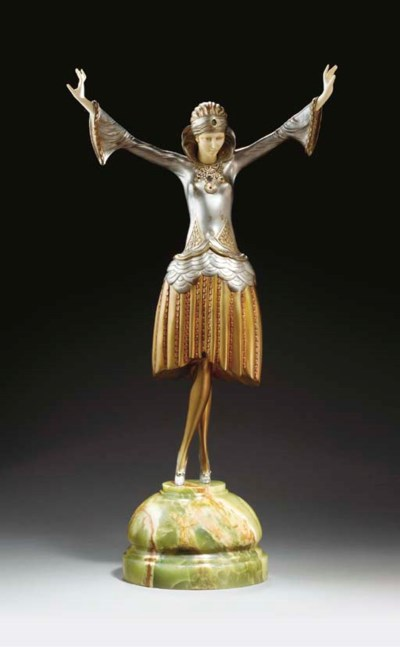 'DANCER WITH TURBAN', A COLD-P
