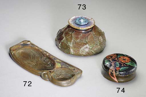 A 'CYPRIOTE' FAVRILE GLASS AND