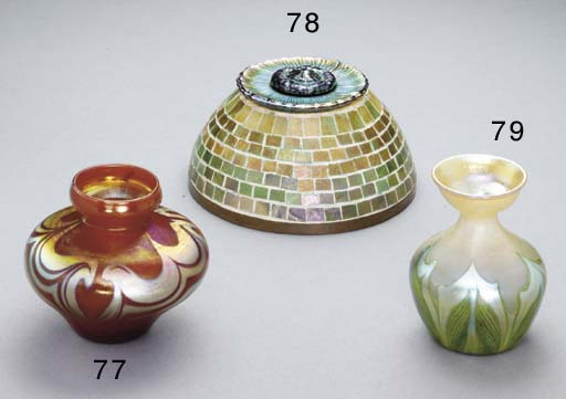 A MOSAIC FAVRILE GLASS AND BRO