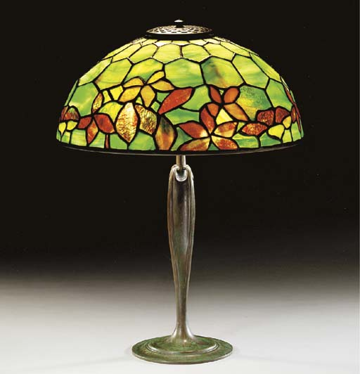 A 'WOODBINE' LEADED GLASS AND