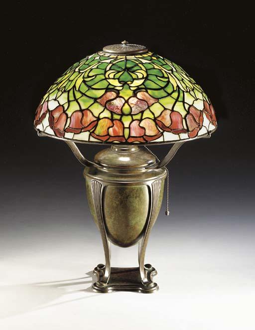 A 'BELLFLOWER' LEADED GLASS AN