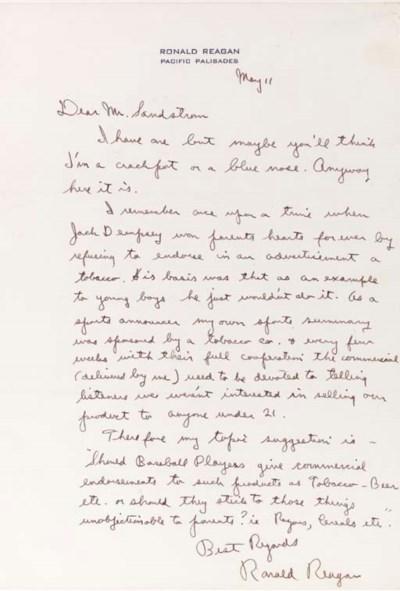 REAGAN, Ronald (1911-), Presid