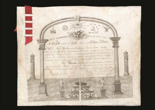 REVERE, Paul. Engraved documen