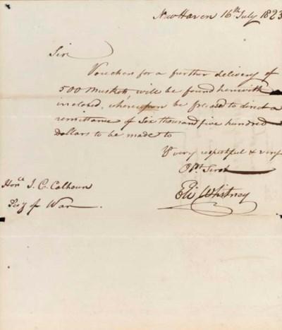 WHITNEY, Eli (1765-1825), Inve