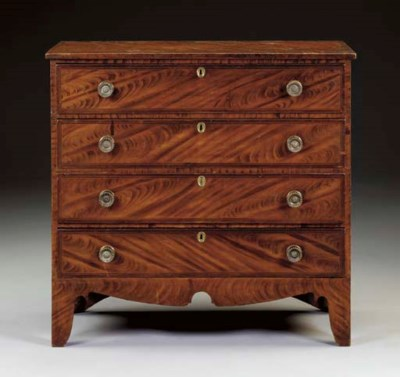 A GRAIN-PAINTED CHEST-OF-DRAWE