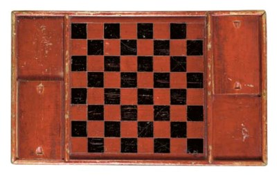 A RED-PAINTED GAMEBOARD