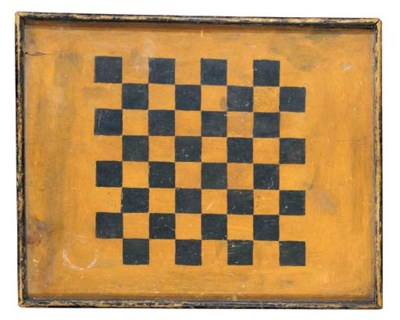 A YELLOW-PAINTED GAMEBOARD