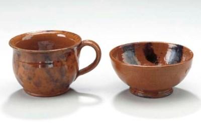 Two Slip and Manganese Decorat