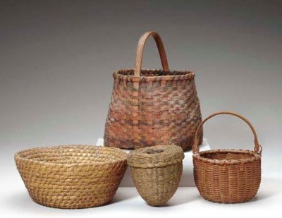 A GROUP OF FOUR BASKETS