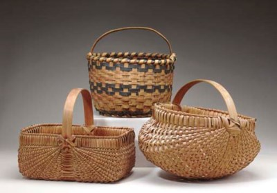 A GROUP OF THREE BASKETS