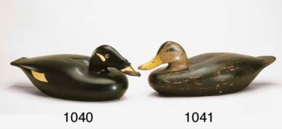 AN EARLY STYLE BLACK DUCK