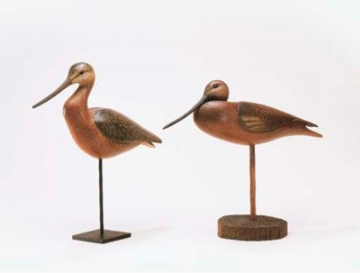 TWO CONTEMPORARY GODWITS