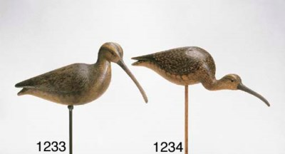 A CONTEMPORARY CURLEW CARVED I