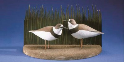 A PAIR OF RINGNECK PLOVER