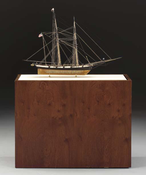 A Model Of The Naval Brigantin