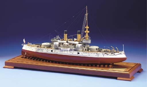 A Model Of The Battleship U.S.