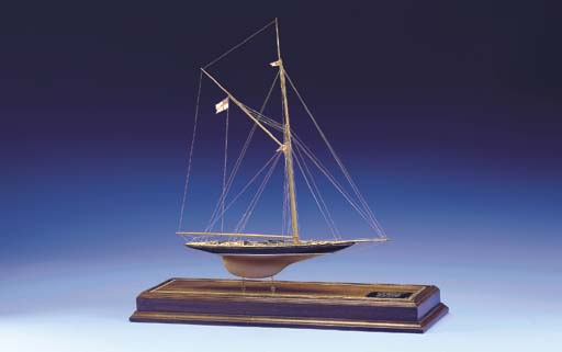 A Model Of The Royal Yacht Bri