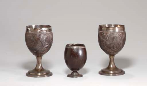 A GROUP OF THREE ENGLISH SILVE