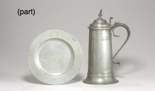 A GROUP OF EIGHT PEWTER PLATES