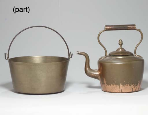 A GROUP OF BRASS AND COPPER OB