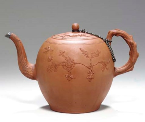 A STAFFORDSHIRE RED STONEWARE