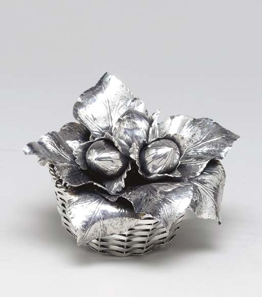 AN ITALIAN SILVER BASKET-FORM