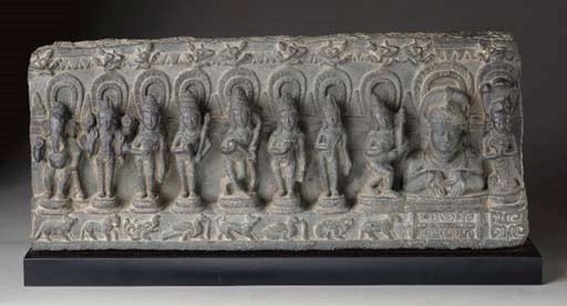 A Black Stone Relief with the