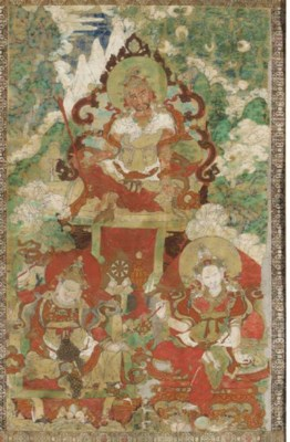 A Thangka of a Guardian Deity