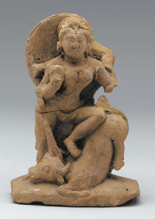 A sandstone Durga,