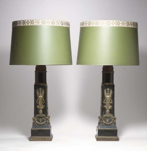 A PAIR OF FRENCH ORMOLU AND TO